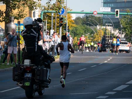 Kenenisa Bekele Behind The Leading Group At Berlin Marathon 2021