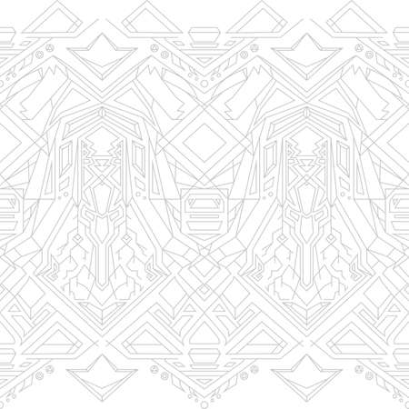 dichromatic: Geometric seamless pattern on a white background