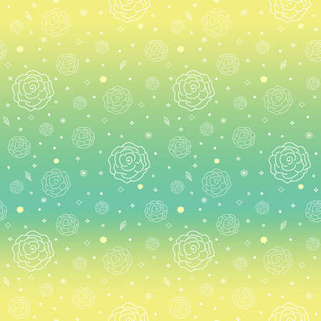 dichromatic: Seamless floral pattern of thin roses