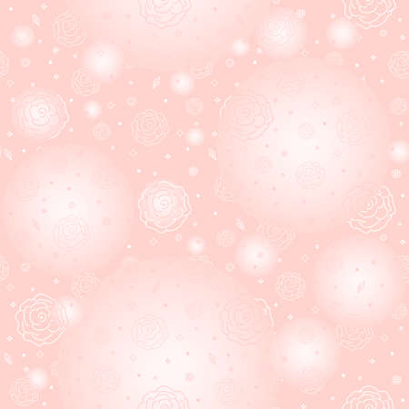 Seamless pattern - roses on a gentle pink background