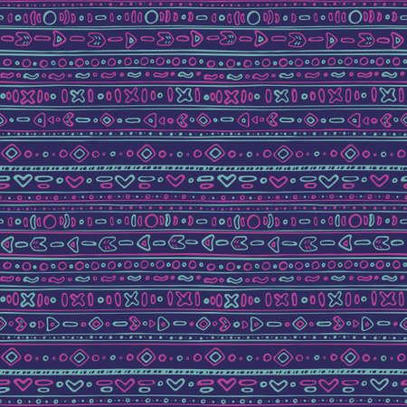 ethno: Seamless pattern - Cute ethno background Illustration