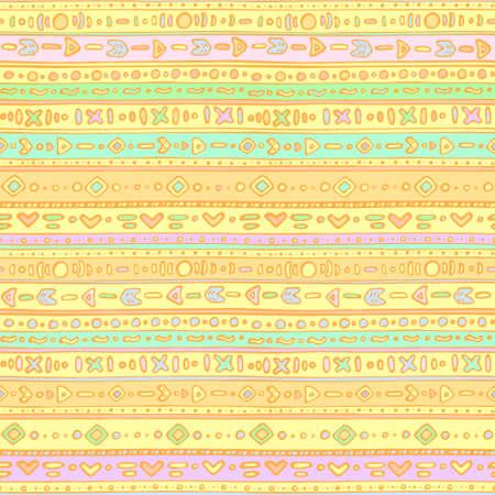 ethno: Seamless pattern - ethno orange sweets Illustration
