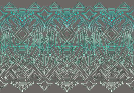 rectilinear: Geometric seamless pattern transformer. Line Art EPS 8