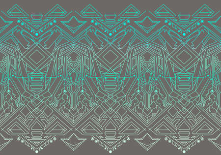 Geometric seamless pattern transformer. Line Art EPS 8