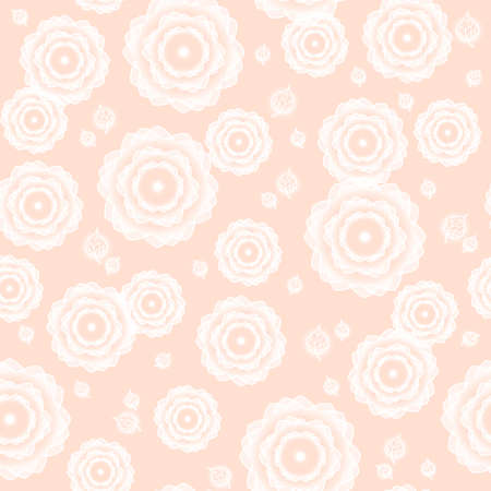 weightless: Pattern - gentle flowers on a pink background