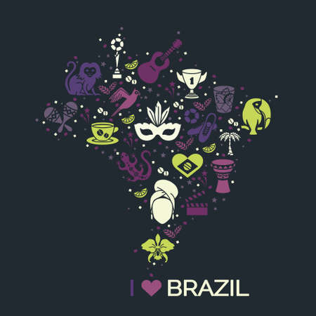 thematic: Brazilian thematic print. Vector illustration EPS 10 Illustration