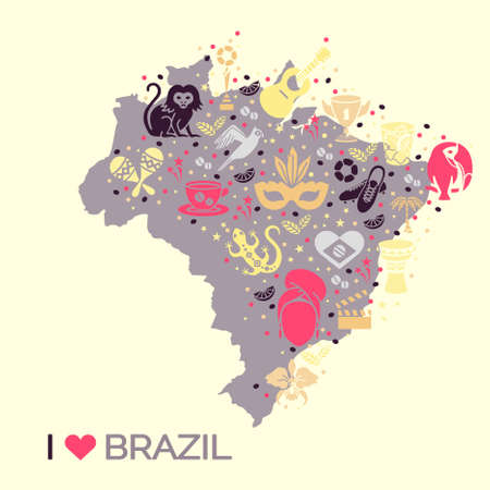 thematic: Brazilian thematic print 4. Vector illustration EPS 10