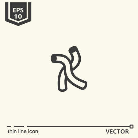 curler: Hairdressing tools. Icons series. Curler Isolated object EPS 10 Illustration