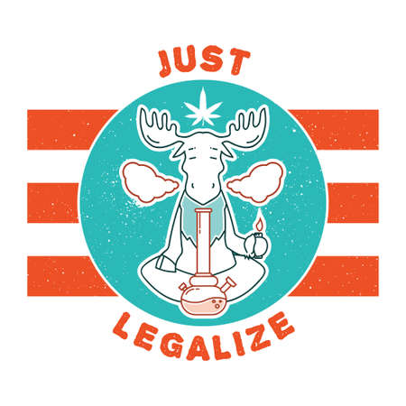 maybe: Vector poster. just legalize series. Animals smoke marijuana. Good for design of postcards, printed materials, maybe it s logo for your own label. Hope you Enjoy it.