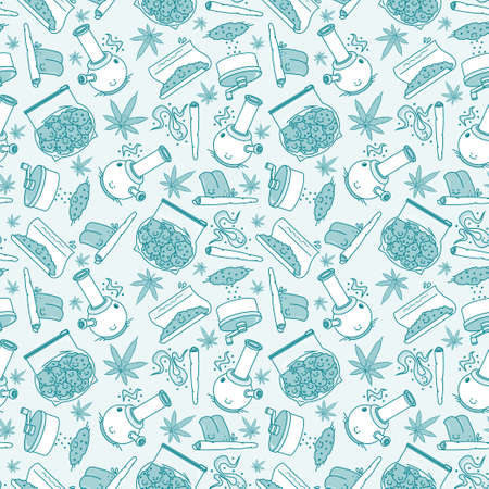 What to do if you got a wed series. Vector seamless pattern. 7 objects. Line art style. EPS 10