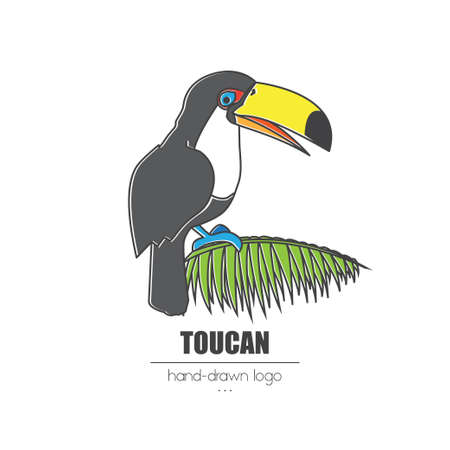 nice looking hand-drawn logo (icon, illustration) toucan