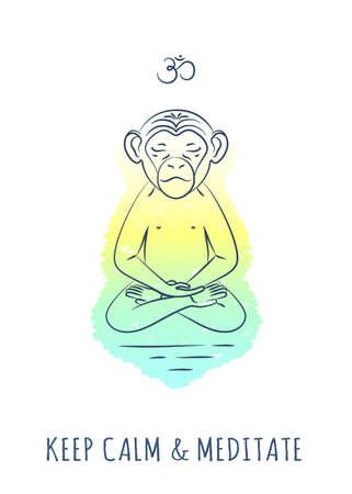 Meditative Animals series 2 Illustration