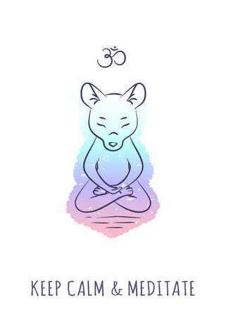 meditative: Meditative Animals series 2 Illustration