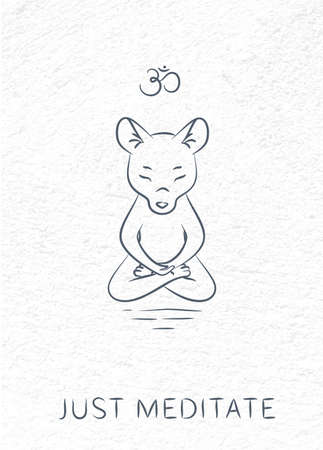 meditative: Meditative Animals series 3 Illustration