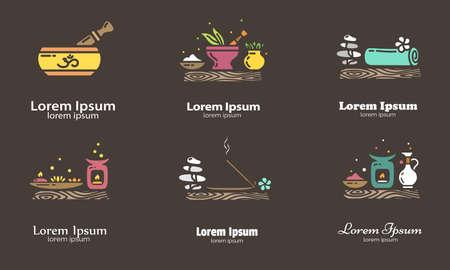 Set of elements for logo design. EPS 10 Isolated objects Illustration