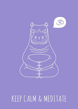 Meditative Animals series. Isolated object