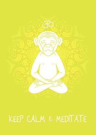om: Meditative Animals series. EPS 10 Isolated object