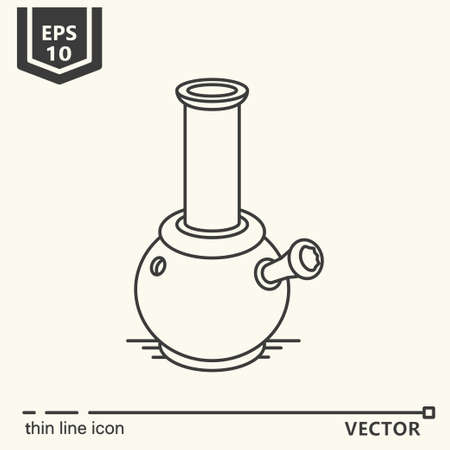 What to do if you got a weed series. Vector single isolated icon logo . EPS 10. Isolated object. Çizim