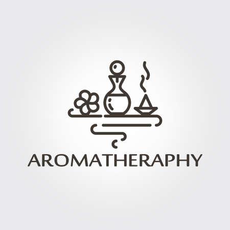 Aromatheraphy - logo design, vector template. EPS 10 Isolated objects Ilustração