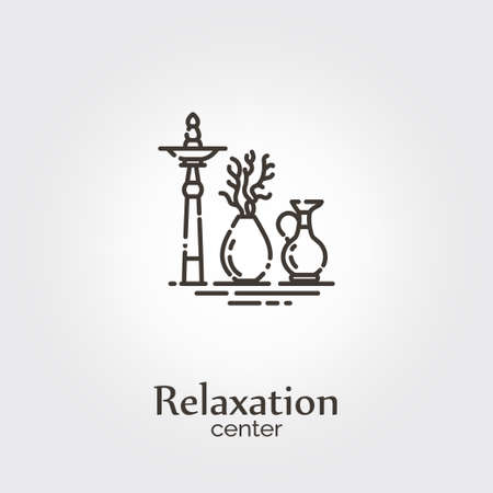Relaxation center - logo design vector template. EPS 10 Isolated objects. Ilustração