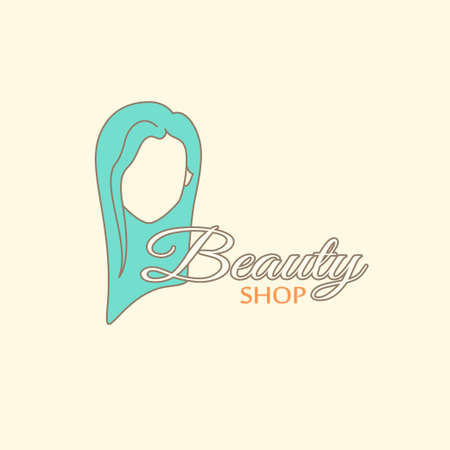 barbershop: Logo template - beauty shop. EPS 10 Isolated object. Illustration