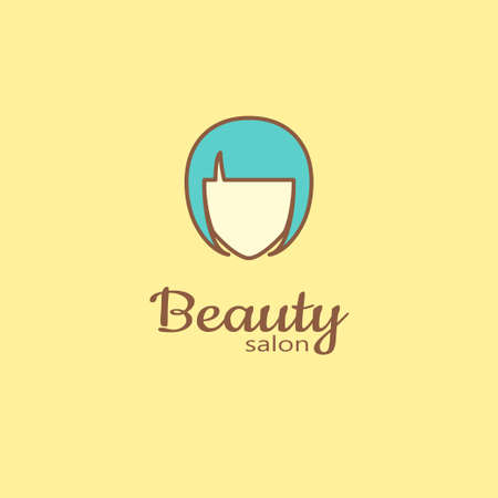 barbershop: Logo template - beauty salon. EPS 10 Isolated object.