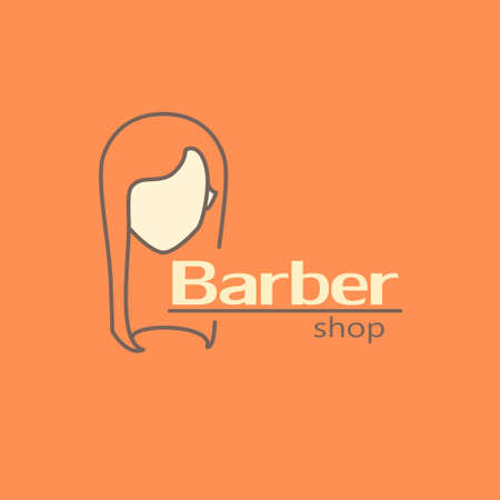 barbershop: Logo template - barber shop. EPS 10 Isolated object.