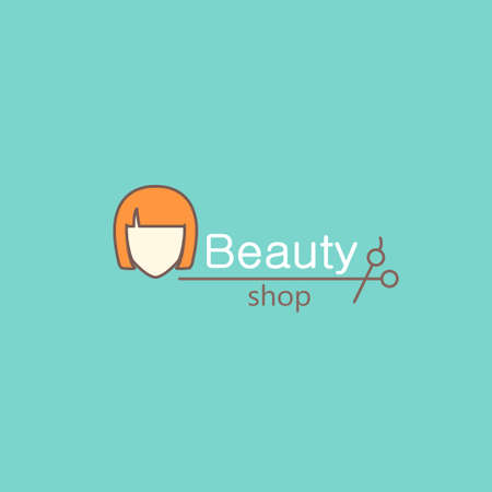 Logo template - beauty shop. EPS 10 Isolated object. Illustration