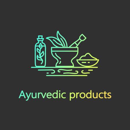 アーユルヴェーダ製品 - デザイン ベクトルのロゴのテンプレート。EPS 10 孤立したオブジェクト。  イラスト・ベクター素材