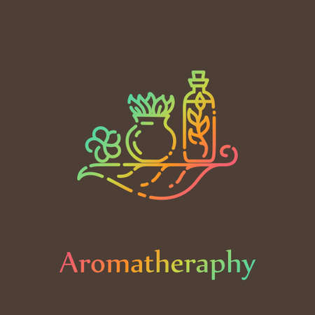 Logo template - Aromatherapy. EPS 10 Isolated object