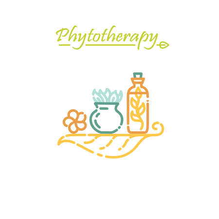 Logo template - phytotherapy. EPS 10 Isolated object Ilustração