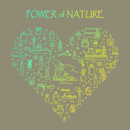 Vector illustration - Power of nature. EPS 10 Isolated object