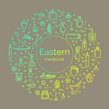 Vector illustration - Eastern medicine. EPS 10 Isolated object Illustration