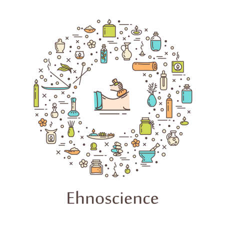 Vector illustration - ehnoscience. EPS 10 Isolated object