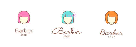 Logo template - barber shop. EPS 10 Isolated object.