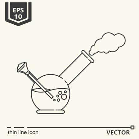 Thin line icon - bong. EPS 10 Isolated object