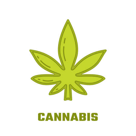 A Logo template - cannabis. EPS 10 Isolated object. Illustration