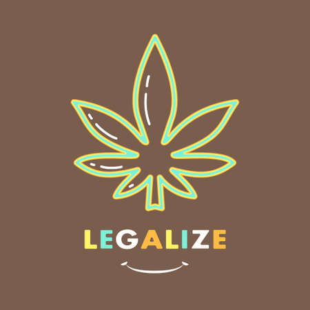 Logo template - cannabis. EPS 10 Isolated object