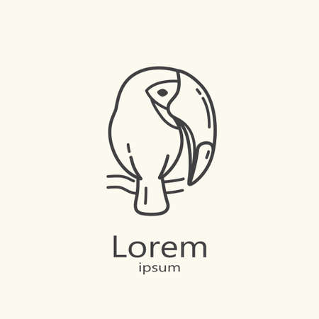 Logo template - toucan. EPS 10 Isolated object