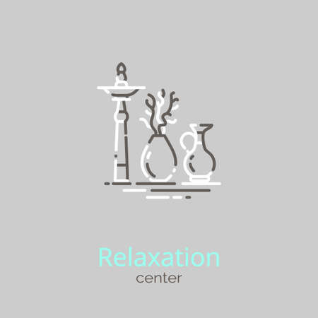 Logo template - Relaxation center. EPS 10 Isolated object.