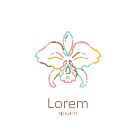 Logo template - orchid. EPS 10 Isolated object