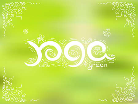 Green yoga vector illustration, EPS 10 isolated object