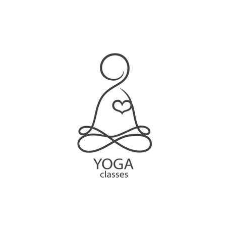 A Logo template - Yoga classes. EPS 10 Isolated object illustration.