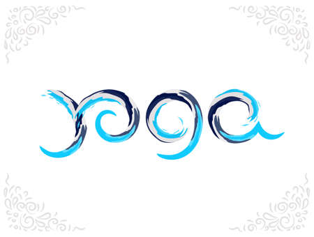 A Vector illustration - Yoga. EPS 10 Isolated object illustration. Illustration