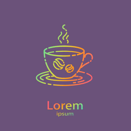 Logo template - cup of coffee. EPS 10 Isolated object