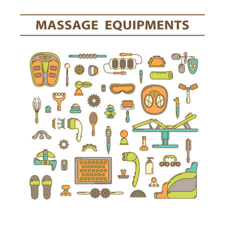 Massage appliance - Icon set. EPS 10 Isolated object Stock Vector - 81851113