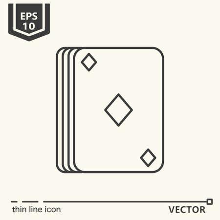 Casino theme. Vector single isolated icon. EPS 10 illustration.