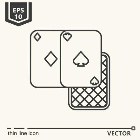 Casino theme. Vector single isolated icon. EPS 10 Stock Vector - 82031958