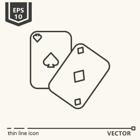 Casino theme. Vector single isolated icon. EPS 10 Illustration