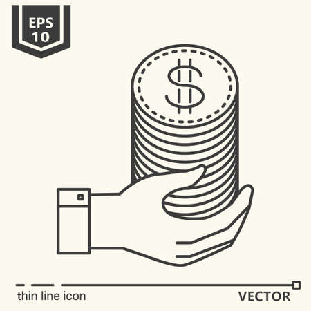 Casino theme. Vector single isolated icon. EPS 10 Stock Vector - 82031971